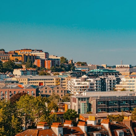 A picture of bristol with ATMs and Cashpoints near by